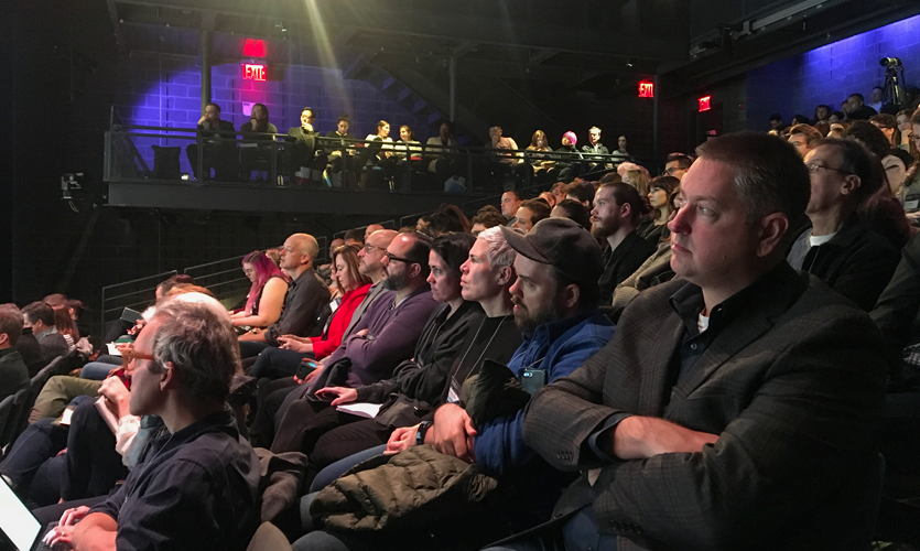 Attendees listening to sessions at Xlab 2019