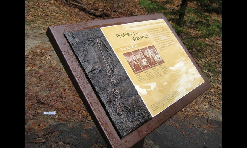 The Yosemite Fund supplements National Park Service funds to provide extras such as bronze bas relief tactile elements on signs at Lower Yosemite Falls.