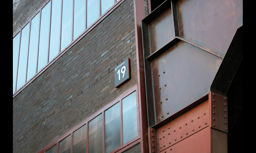 House numbers identify more than 100 buildings on site.