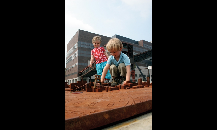 The cast-iron scale models are vandal- and kid-proof.