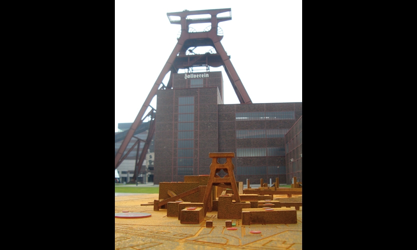 The winding tower is replicated in scale models that help visitors find their way around the site.