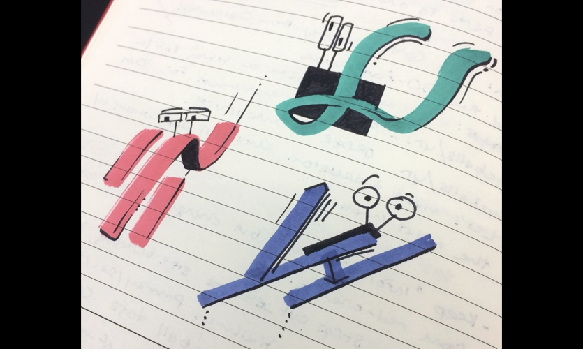 Just having fun bringing marker scribbles to life.