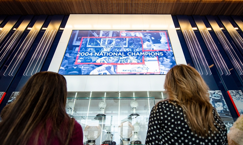 With such a long and storied basketball tradition, the project was more than building display cases.