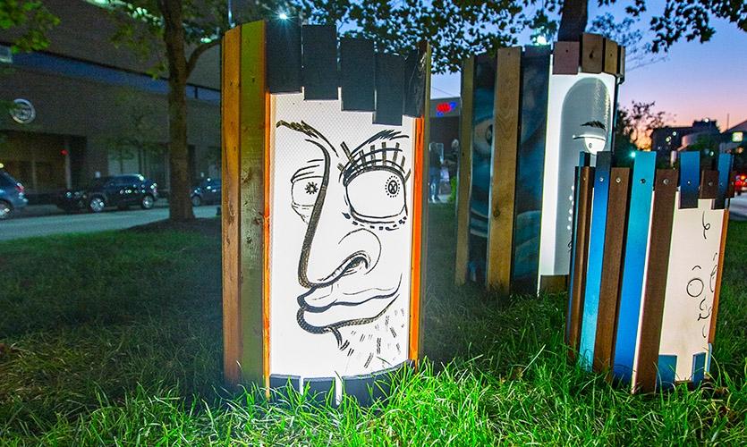 """Stumpies"" by artist Matt Grote"