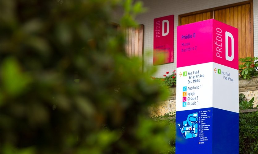 The result was a  fun and vibrant wayfinding appropriate to the school environment.