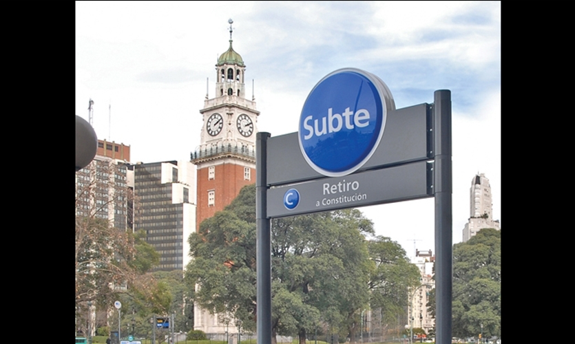 The Subte claims its place in the vibrant visual language of Buenos Aires.