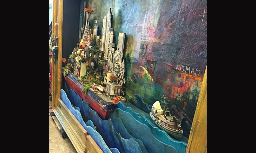 """They created a huge moving diorama that Arts Forum magazine called """"a mythical voyage of mammoth visual proportions."""""""