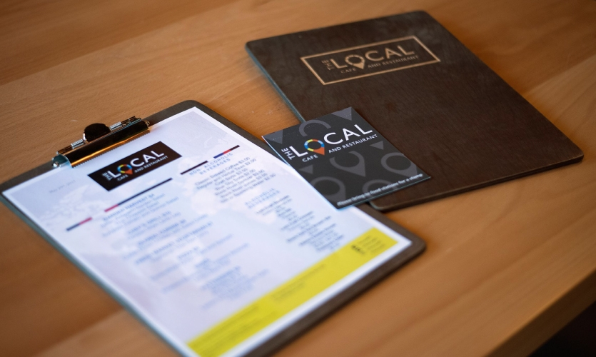 The Entro team also designed menus for The Local