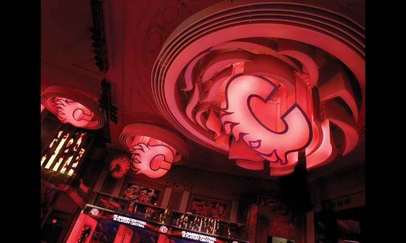 Flames Central and Wildfire Grill, Calgary, Alb., Canada. Fabrication: Eventscape