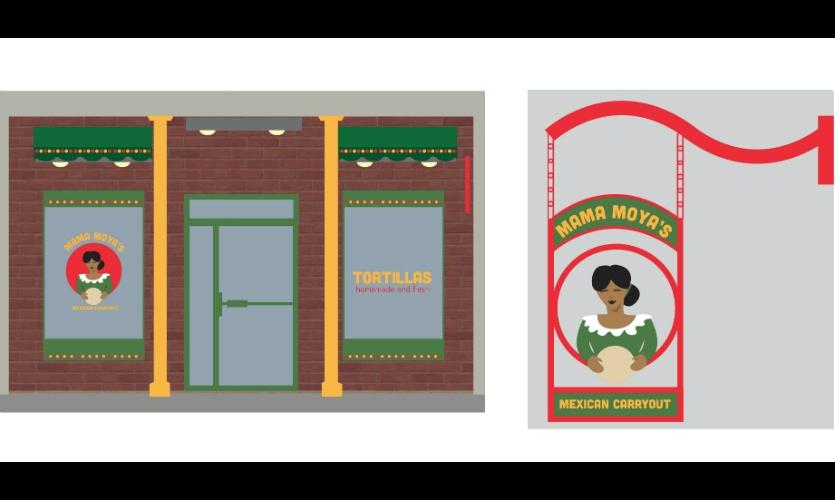Fig. 6. Design for Mama Moya's (Jessie Fullerton)