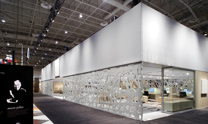 Teknion's focus on sustainability extended to many materials used for its presence at IIDEX/NeoCon Canada.