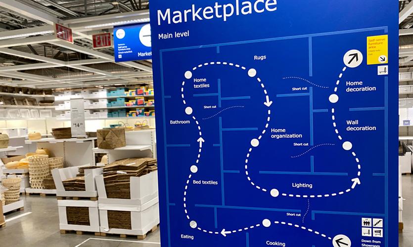 Ikea Map, Photo courtesty of Joseph Mackereth