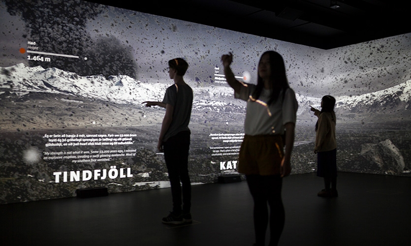 Site of Actual Volcanos: An immersive world showing the five different Volcanoes around LAVA Centre.