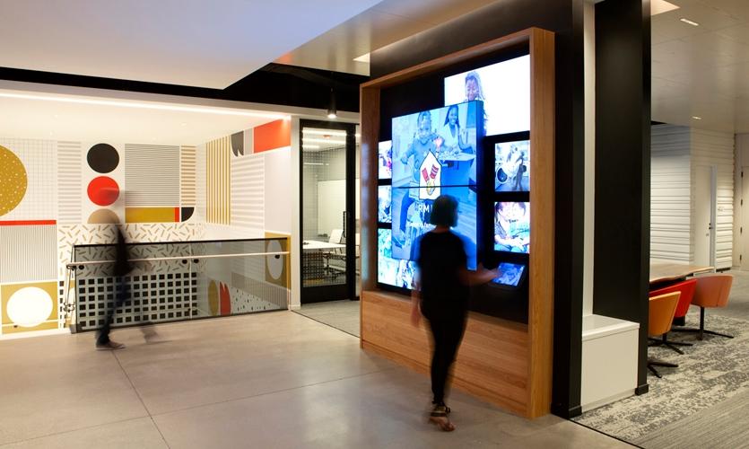 Ronald McDonald House Charities educational kiosk