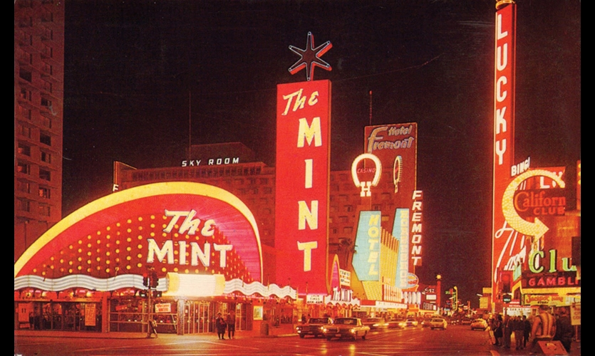 Las Vegas Strip and Downtown (1950s). Building-sized neon signs and animated facades came to define a city and reflect a destination lifestyle.
