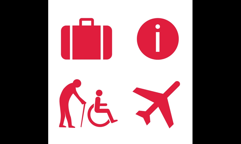 One of the key wayfinding recommendations was a set of pictograms to help non-English-speaking passengers.