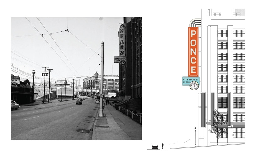Some of the signs designed by Design360 were directly inspired by signs on the site during Sears' heyday.