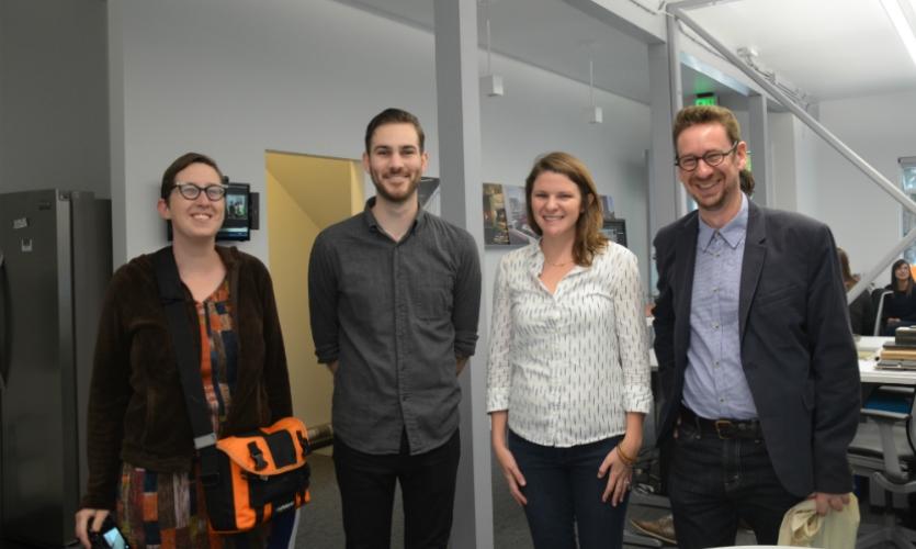 (l-r) Victoria Baird, Shane Hendry, Ellen Bean Spurlock, and Tim McNeil at Media Objectives at VDTA