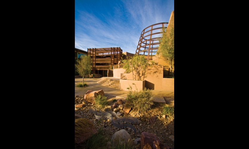 The Desert Living Center compound is just three miles off the Las Vegas strip.