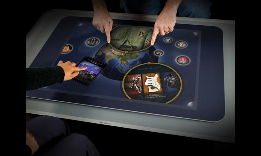 Duncan/Channon and Vertigo developed a custom memorabilia app for Microsoft Surface, a multi-touch, multi-user interactive tabletop.