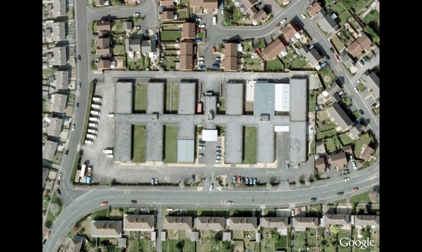 A Google Map of the Vassal Centre, Bristol, England, where David Sweeney's Talking Tactile Map was prototyped.