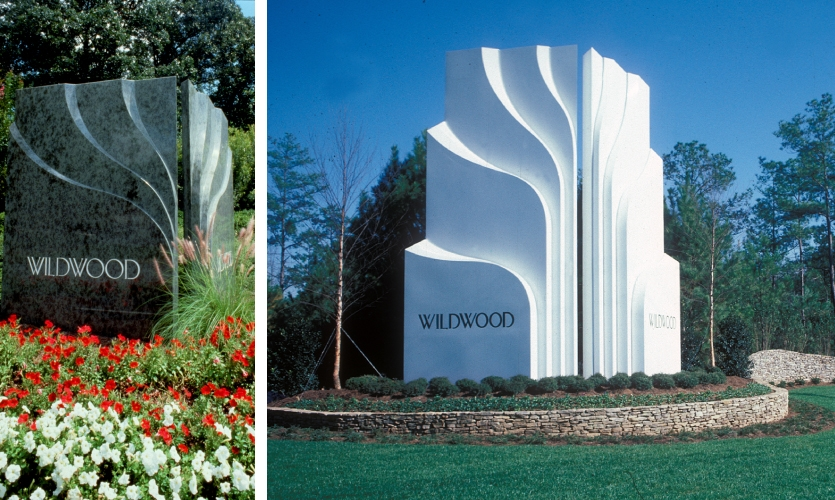 The Wildwood project was designed as a major focal identity as well as a signage system. This project was pivotal to Lorenc+Yoo Design's national recognition.