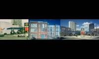 Before and After Views, Murals at 22nd & Walnut Streets, The Sun Oil Company, Susan Maxman & Partners, Michael Webb (artist)