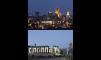 Cincinnati Skyline, Duke Energy Center, City of Cincinnati Department of Transportation and Engineering, Sussman/Prejza & Company, LMN Architects