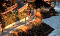 Pedestrian and Bicycle Corridor, Eastbank Esplanade Urban Markers, Portland Development Commission, Mayer/Reed