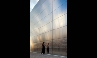 Reflection on Wall, Empty Sky: The New Jersey 9/11 Memorial, State of New Jersey Department of Treasury, Frederic Schwartz Architects