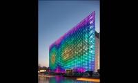 Colorful Exterior PV Cells, GreenPix Zero Energy Media Wall, Jingya Corporation, Simone Giostra & Partners Architects