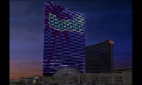 Palm Tree Digital Display, Harrah's Resort Media Façade, Harrah's Resort Atlantic City, Tim Hunter Design