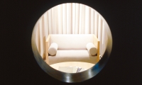 "View Through ""Swiss Cheese"" Wall, HBF LA Showroom, Vanderbyl Design"