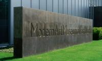 Monumental Landmark Sign, The Modern Art Museum of Fort Worth, Pentagram