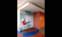 Wall Map Graphic, Nortel Networks Calgary Campus, Nortel Networks, HOK Visual Communications