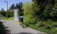Bike Trail Signage, VeloCity, University of Washington, Erin Williams