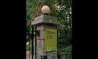Gate Signage, Wave Hill, Pentagram