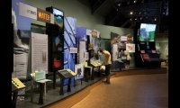 Prior to construction of the center, the interactive exhibits were tested using mockups.