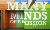 Wall Typography, Achievement First Endeavor Middle School, Achievement First, Pentagram