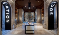 Outside Entry to Gallery Sections, Celebrating 100 Years, New York Public Library, Pentagram Design