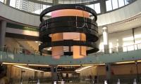 Catwalk Rings in Atrium, Dubai Mall Catwalk, Emaar, Square Peg Design