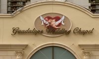 Exterior Signage, Guadalupe Wedding Chapel, Marie & Julliano Morchon, Romero Thorsen Design