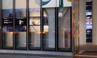 Glass Panels, Museum of Arts and Design, Pentagram