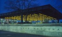Building Exterior, Neue Nationalgalerie, Jenny Holzer, Sunrise Systems