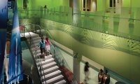 Stairway Graphics, Palmetto Health Children's Hospital Wayfinding and Graphics, Stanley Beaman & Sears