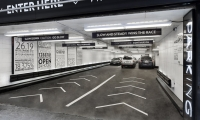 Entry Road Graphics, Parking at 13-17 East 54th Street, Cohen Bros. Realty, Pentagram