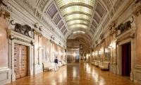 Hallway with Mirrored Volume in Center, Reflex, Assembleia da República, P-06 Atelier