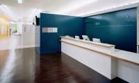 Reception Area, San-Ai Clinic Color and Signage Design, San-Ai Kai Medical Corp., MED