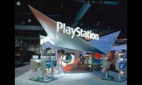 Lettering Signage, Sony PlayStation E3 2001 Exhibit, Sony Computer Entertainment America, Mauk Design