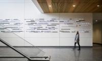 LED Displays on Wall, Syracuse University, Poulin + Morris